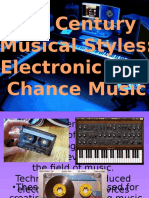 Electronic and Chance Music