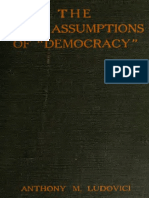 1921 - Ludovici, Anthony M. - The False Assumptions of Democracy