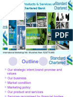 Marketing Policy, Products & Services of  Standard Chartered Bank