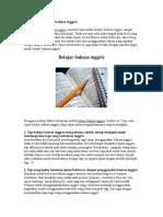 4 Tips Cepat Belajar Bahasa Inggris