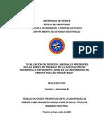 Tesis.Evaluación De Riesgos Laborales Presentes En La Delegación De Desarrollo Estudiantil (DDE).pdf