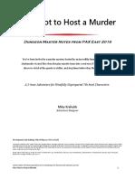How Not to Host a Murder (5e)