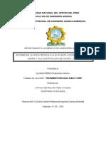 Informe de Vista Tecnica a La Ex Planta y a La Planta Piloto de Yauris