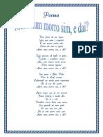 Poema Moro Num Morro Sim, e Daí?