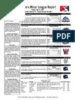 7.31.16 Minor League Report