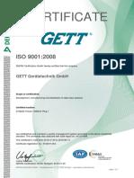 Zertifikat Din en Iso 9001 2008 Gett en 0