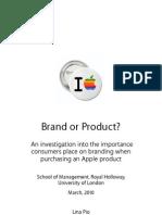 Lina Pio Apple, Brand or Product