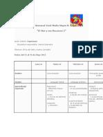 Planificación Semanal Nivel Medio Mayor B