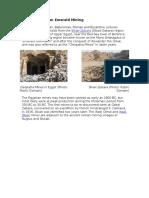 Ancient Egyptian Emerald Mining