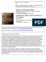 Hutton - Intellectual History and the History of Philosophy