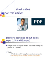 How to Start Sales Conversation