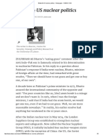 Bhutto & US Nuclear Politics - Newspaper - DAWN