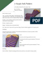Super Simple Sock Pattern