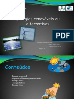 Energias renováveis ou alternativas