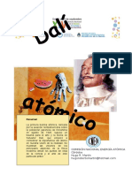 HUGO MARTIN ATOMICA CORDOBA - AFICHE DIFUSION DALI ATOMICO - XIV SEMANA NACIONAL CIENCIA, TECNOLOGIA Y ARTE CIENTIFICO