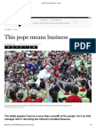 This Pope Means Business - Fortune