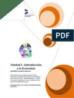 Guia Unidad I - Introduccion a La Economia