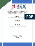 Impacto Social de La Ingeniería Civil
