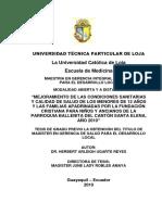 MAESTRÍA EN GERENCIA INTEGRAL DE SALUD PARA EL DESARROLLO LOCAL