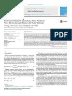 Ti-based Fe2O3 Photo-Anodes (Electrochimica Acta, 2014)
