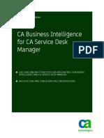 CA Business Intelligence for CAServDeskMgr ENU