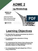 ADME 2 Metabolism