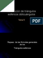 Resolucion de trieangulos semi esfericos