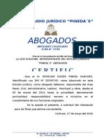 Certificado de Trabajo Revelino