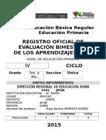 Registro de Tercer y Cuarto Grado