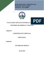 Portafolio Administración Gerencial