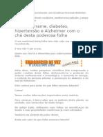 Folha de Oliveira_Adeus Derrame, Diabetes, Hipertensão e Alzheimer Com o Chá Desta Poderosa Folha