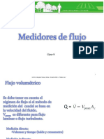 Clase 9. Medidores de Flujo (2015-2)