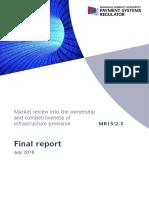 PSR MR1523 Infrastructure Market Review Final Report