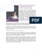 Estudio Unicef y Udape Bolivia. Determinantes de La Violencia Contra La Niñez y La Adolescencia