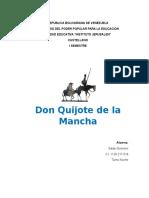 Analisis Quijote de La Mancha