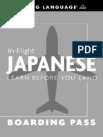 In Flight Japanese