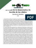 Bobbio, Norberto - La Crisis de La Democracia Y La Leccion de Los Clasicos