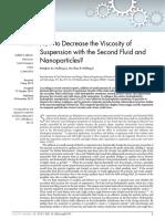 Viscosity of Nanoparticles