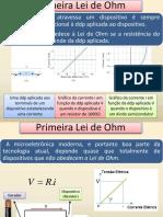 F3 Aula 10 Eletrodinâmica 1ª Lei de Ohm Geradores Associação Resistores Circuitos Potência RC Semicondutores