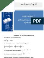 Integrales de expresiones algebraicas
