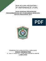 Tor Sarana Dan Prasarana Pengembangan Sik Puskesmas