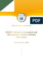 December HWPL World Alliance of Religions' Peace Office (HWPL WARP Office) Journal