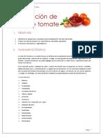 Elaboracion de Salsa de Tomate en laboratorio