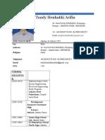 CV - Tandy Henhakki Arifin