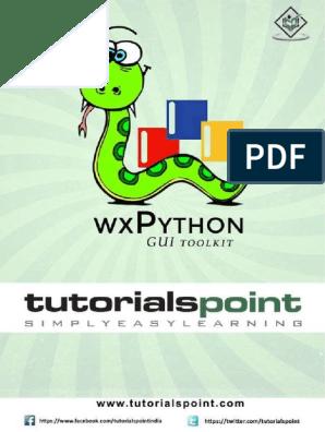 Xpython Tutorial | Typefaces | Linux