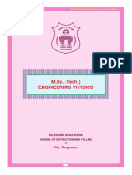 M.sc(Tech)Engg. Physics