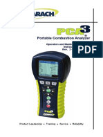 BACHARACH PCA3 Portable Combustion Analyzer