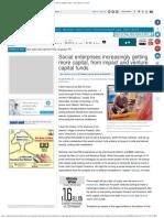 Social Enterprises Increasingly Getting More Capital, From Impact and Ventur