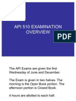 API 510 Examination Overview