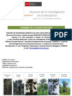 Análisis de Diversidad Genética de Una Colección de Aguaje